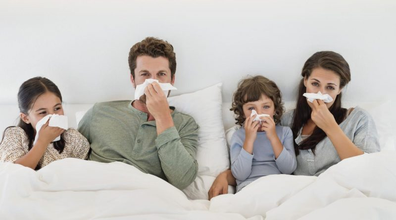 Family with flu